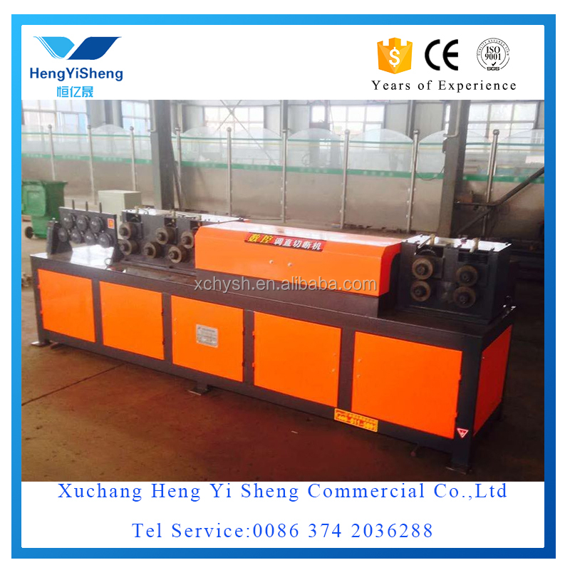 Wire de-coiler, straightening and cut off machine