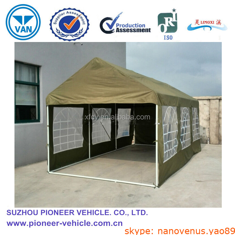Wood Car Shelter Folded : Outdoor folding car tent instant canvas shelter iso