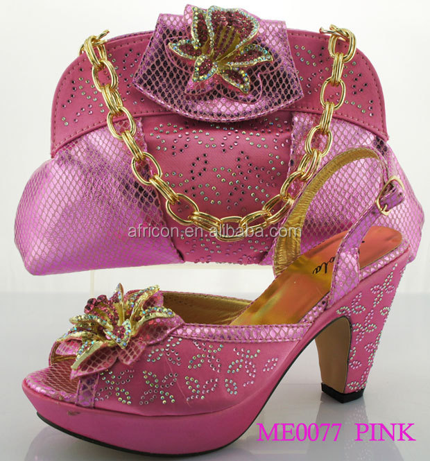 ME0077 pink wholesale china beautiful nice shoes matching bag italy design  shoes and bag to match 6238e3da7470