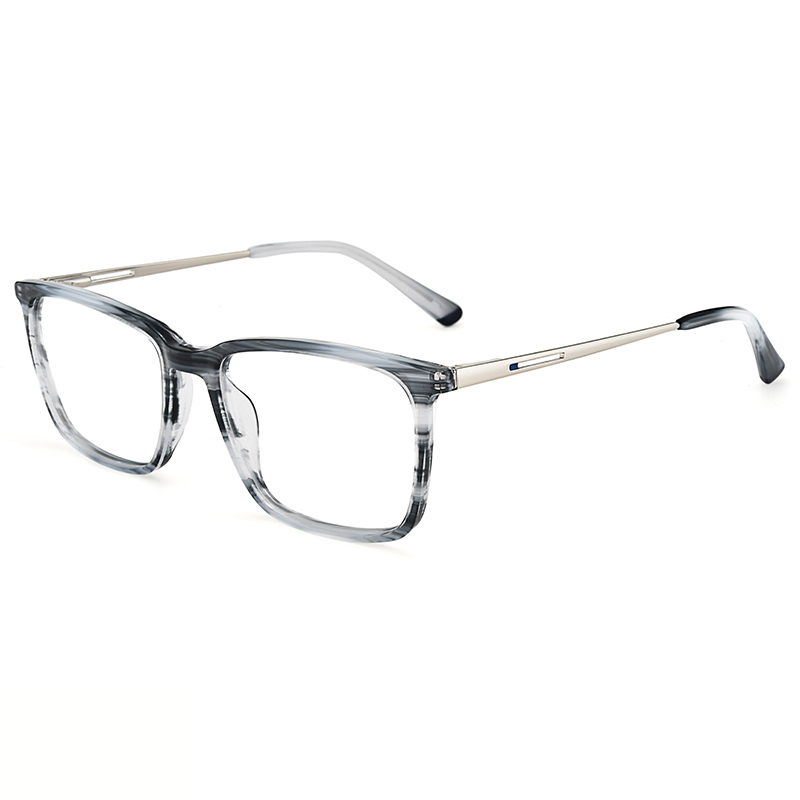 cc58a2b753 China factory men acetate metal temple optical eyeglasses frames wholesale