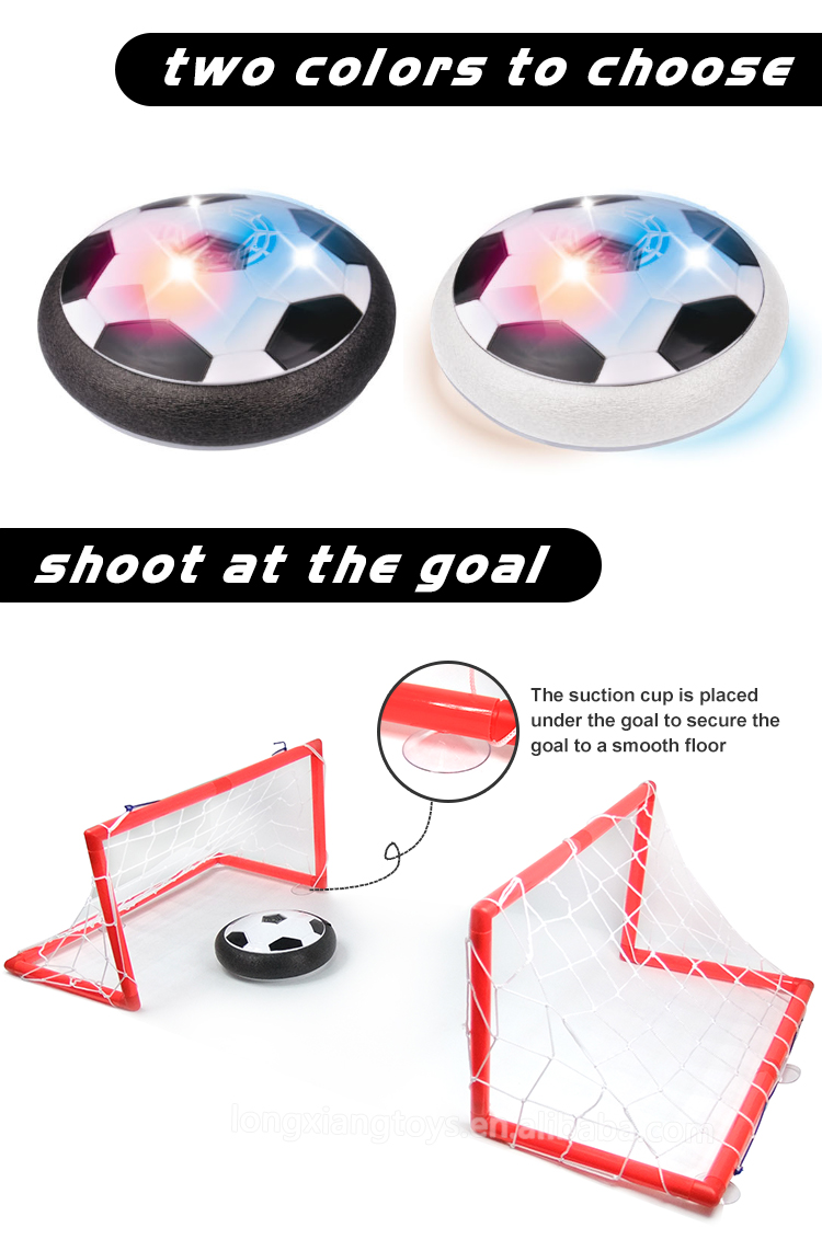 Hot Selling Indoor Kids Toy Light-Up Football Electric Air Soccer Hover Ball For Kid With Different Size