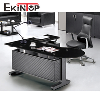 Popular office furniture table european style leather modern office desk
