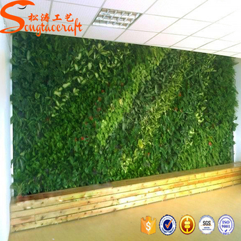 2017 Guangdong DIY Fake Vertical Garden Materials Plant Wall Used  Artificial Grass