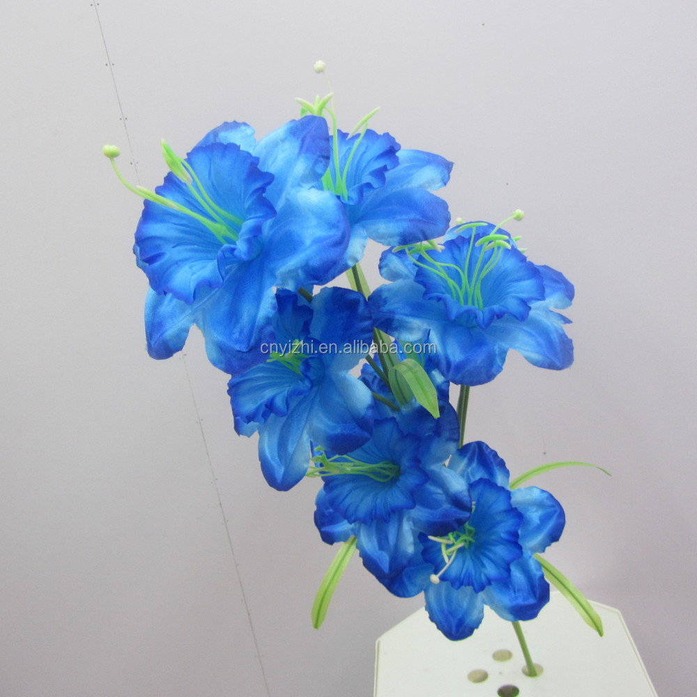 Supply high quality blooms lily flower single oriental blue lily supply high quality blooms lily flower single oriental blue lily lifelike lily spray with 8 flowers izmirmasajfo