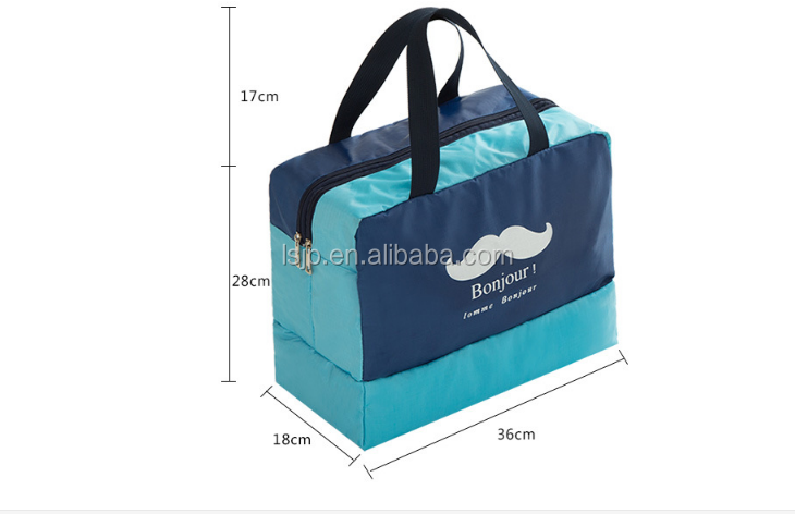 daee16331d Hot 600D practical wet and dry clothes separate kept dual purpose travel  storage bag gym bag