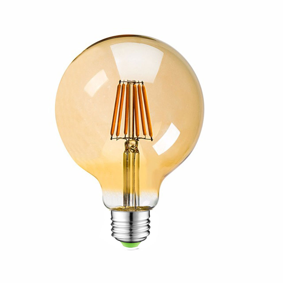 Globe G125 led filament bulb Amber/Frosted/Clear dimmable E27 4w 6w 8w g125 bulb
