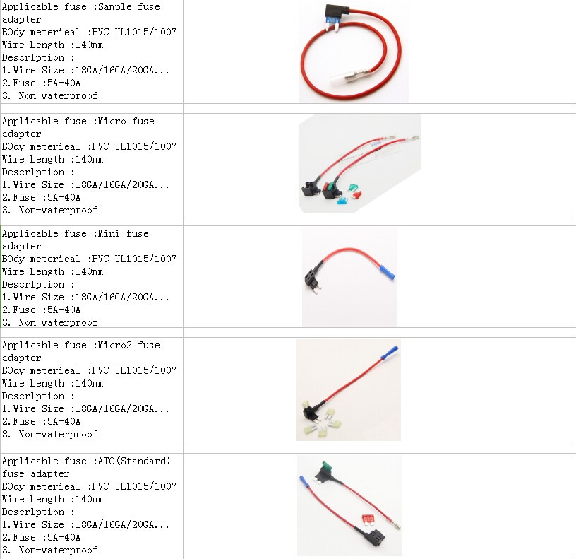 J Case Type 20Amp Fuse Jcase Cartridge Low Profile Car Auto Cable Fuse