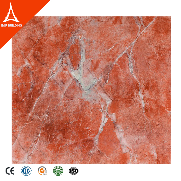 Micro crystal stone luxury red porcelain floor tiles wholesale