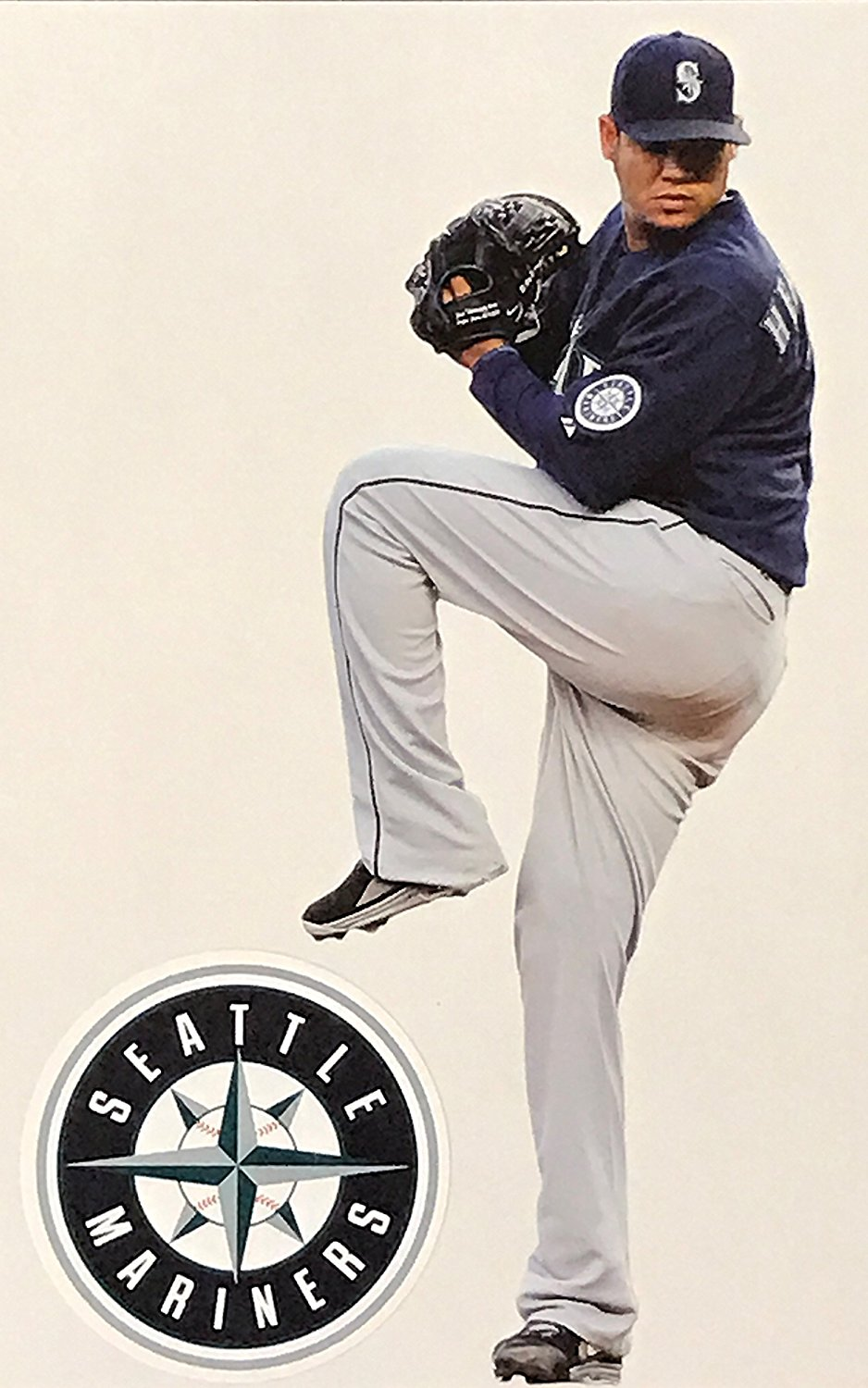 "Felix Hernandez Mini FATHEAD Seattle Mariners Official MLB Vinyl Wall Graphic 7"" INCH"