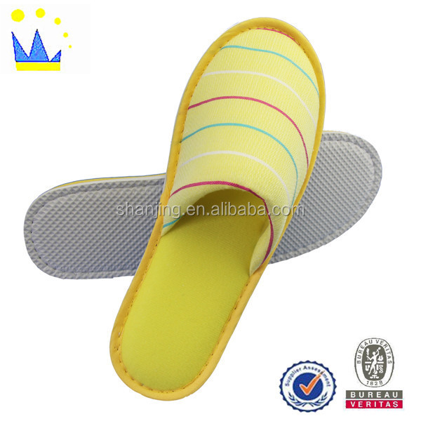 customized disposable terry hotel slipper eva out sole for hotel slipper
