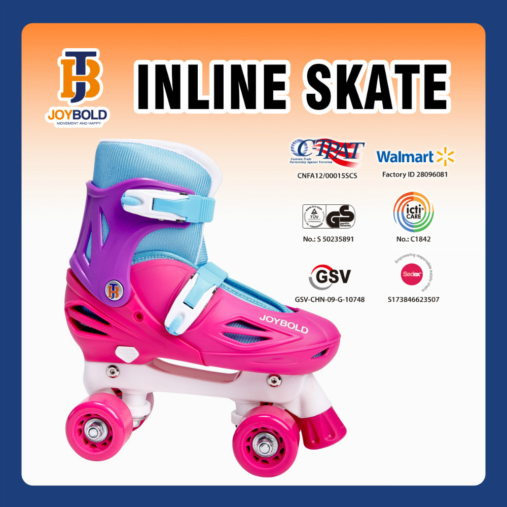 Jingbang Cheap Price 4 Wheel PP Frame Roller Skate Shoes For Adults JB1311