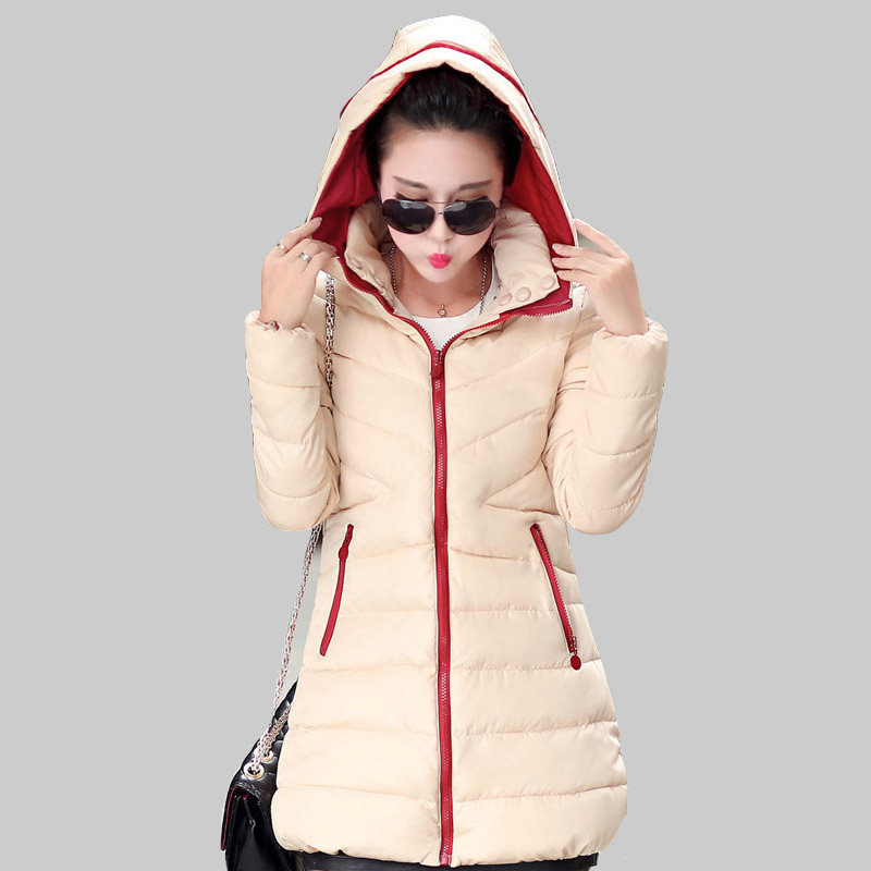Vogue New Style 2015 Female Cotton Han Edition Women s Long Section Solid Color Hooded font