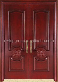 E TOP DOOR HPL OR WOOD VENEER SURFACE Interior Solid Wood Double Doors  Manufacture