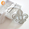 Metal Fleur-De-Lis Bookmarks with white tassel First Communion Baby Shower Souvenirs Wedding Favors and Gifts For Guest