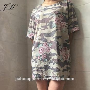 f8c57e9ec055c New Popular Camouflage Womens Oversized T Shirt Dress - Buy Camo ...