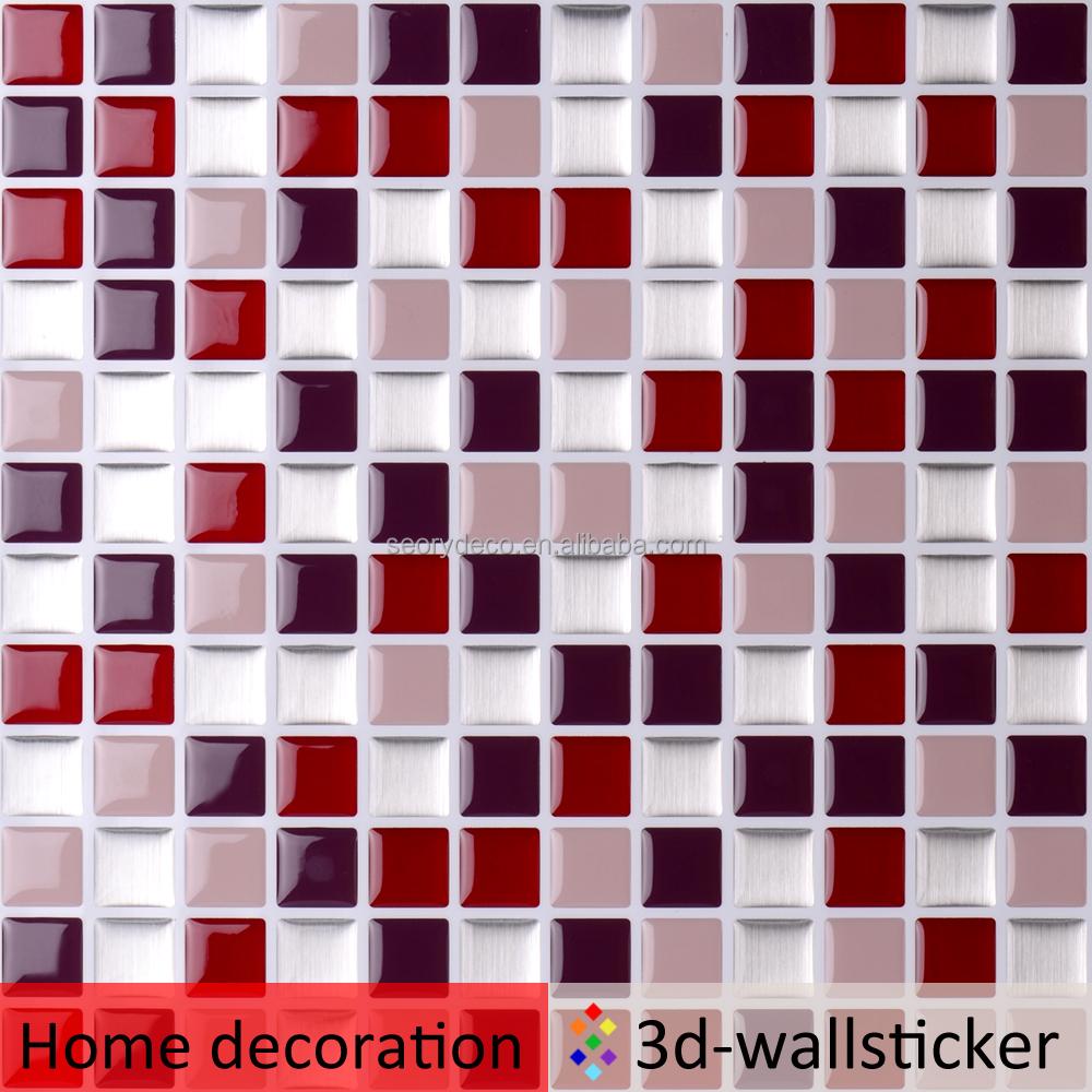 barato superventas home depot magic gel vinilo azulejos de mosaico para cocina backsplash