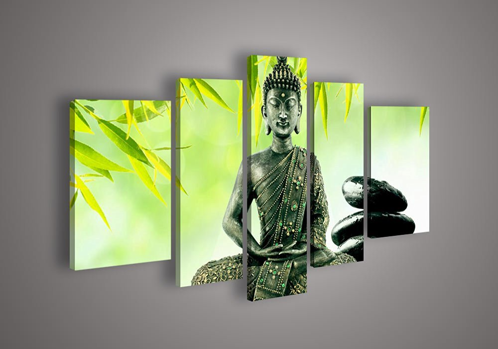 Buddha Paintings Canvas God Green Painting Religion Art On Canvas Textured Abstract Oil Paintings For Home Decor (no framed)