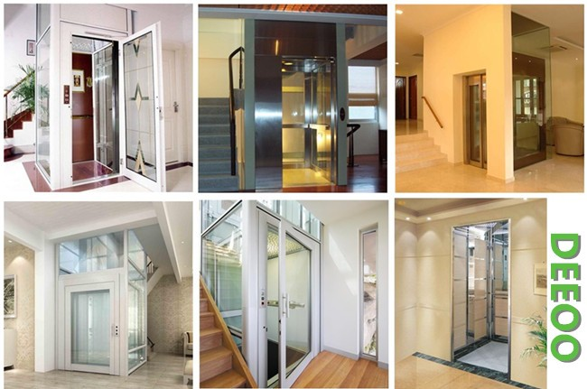 Deeoo Machine Roomless Cheap Home Lift Small Elevator For