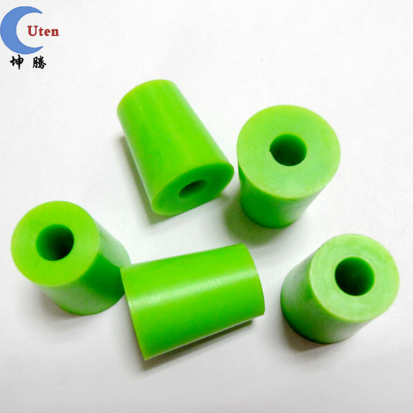 Colorful silicone bottle plug with through hole