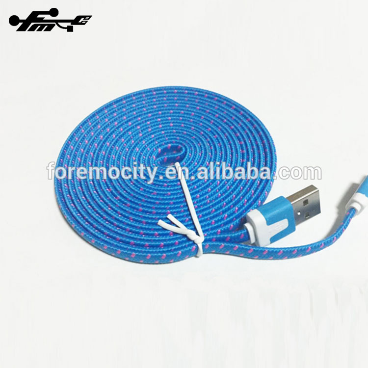 data link cable nylon braided micro usb cable for iphone and for samsung Discount Free Inspection