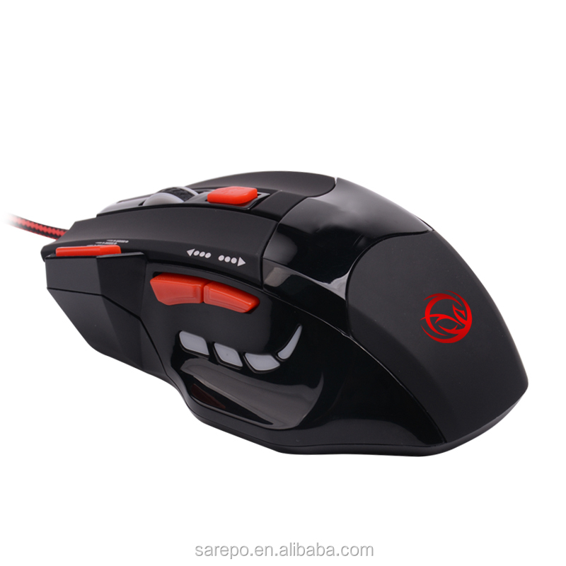 7 BUTTONS Gaming mouse ,optical gamer mice with Triple click rapid fire key