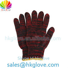 50g Red & Navy Blue Mix Colored Safety Cotton Knitted Glove HKA1007