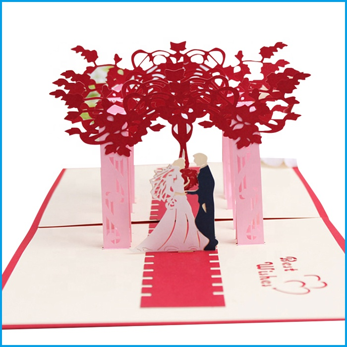 Cards & Invitations Home & Garden Creative Creative 3d Pop Up Cards Marriage Diamond Love Ring Gift Box Greeting Card Wedding Postcard Valentines Day Gifts 16*13cm