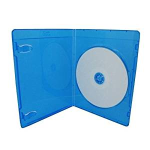 (25) Empty 6mm Ultra Thin Single Slimline Blue Replacement Boxes / Cases for Blu-Ray DVD Movies - Holds 1 Disc #DVBR06BR by Square Deal Recordings & Supplies