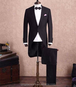 Latest design swallow- tailed coat pant men suit