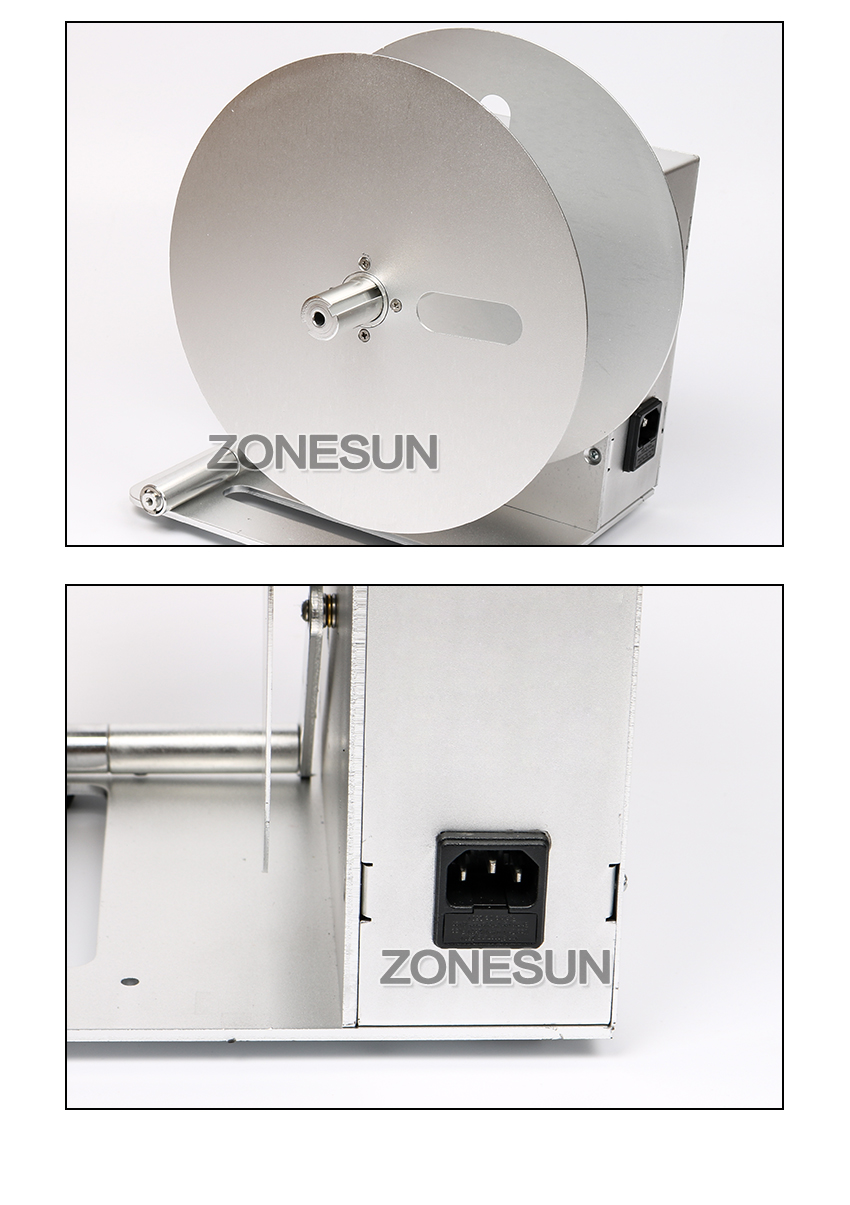 ZONESUN Digital Automatic Label Rewinder Clothing tags barcode Stickers rewinding machine volume label FOR Supermarket