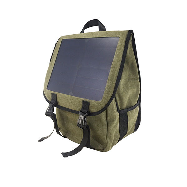 Wholesale high grade waterproof green power sun solar panel charger bag pack