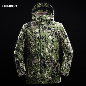 100% polyester sell digital camo windbreaker hunting camouflage jacket