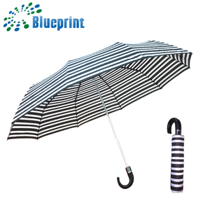 sunny export PU curved umbrella handle 3 fold golf large umbrella