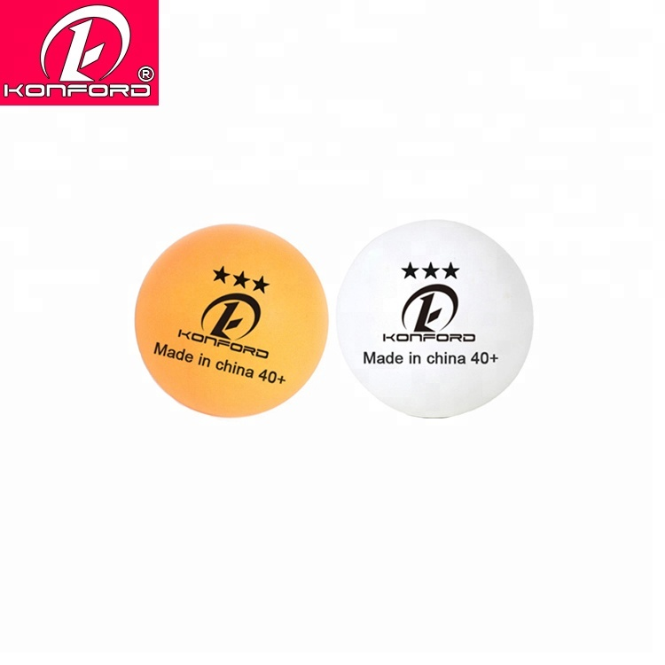 Designer promotionele hot mini wit oranje pp materiaal naadloze ping pong bal