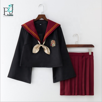 Japanese Sailor Dress School Girls Harry Potter Dress Pleated Skirt Of Cosplay College Style Uniform Costume