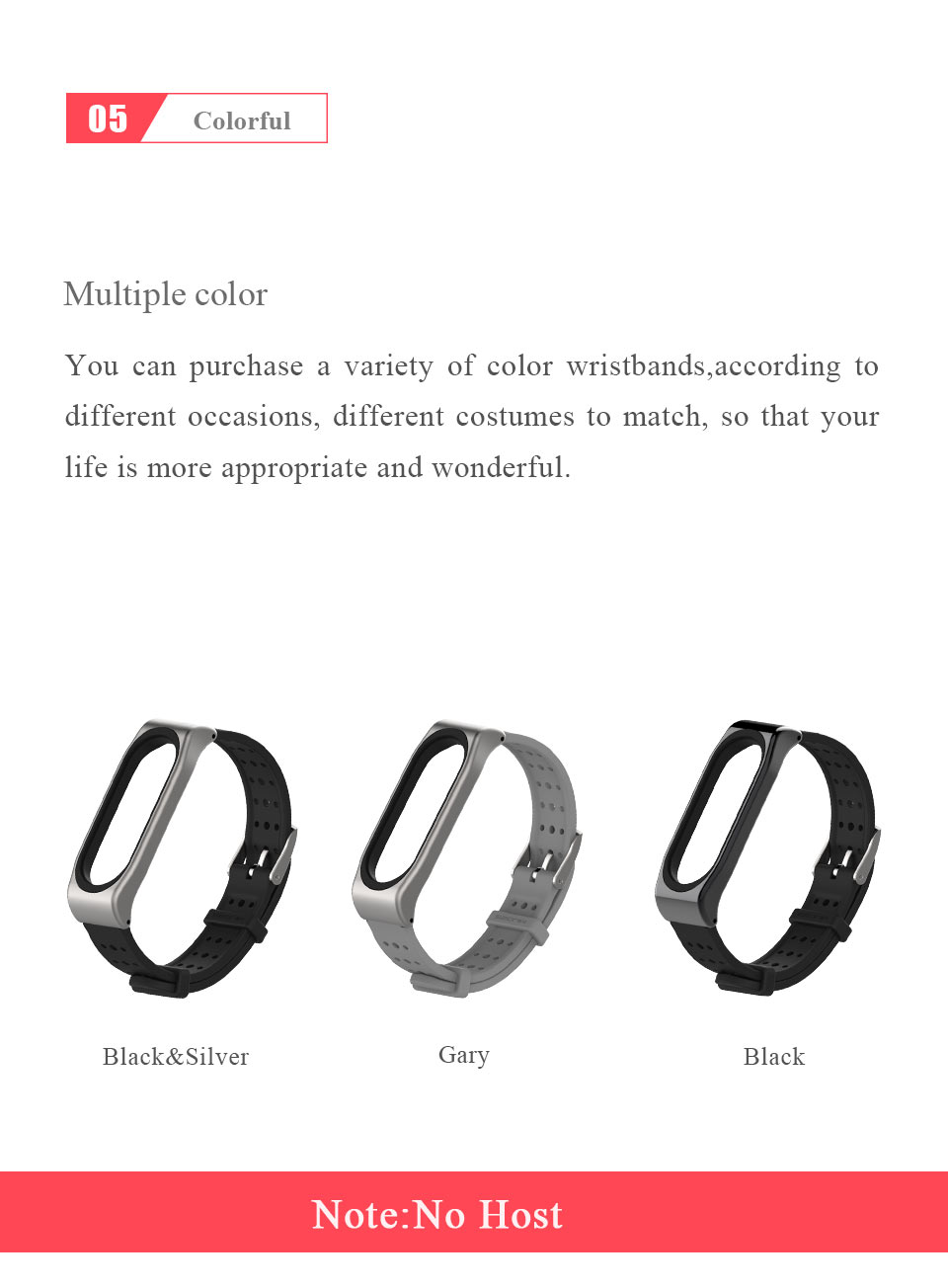 Mijobs Mi Band 3 Strap Smart watch Replacement Band  Wristband Accessories mi band 3