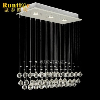 Modern Chandelier Rain Drop Lighting Crystal Ball Fixture Pendant Ceiling L& 3 Lights & Modern Chandelier Rain Drop Lighting Crystal Ball Fixture Pendant ...