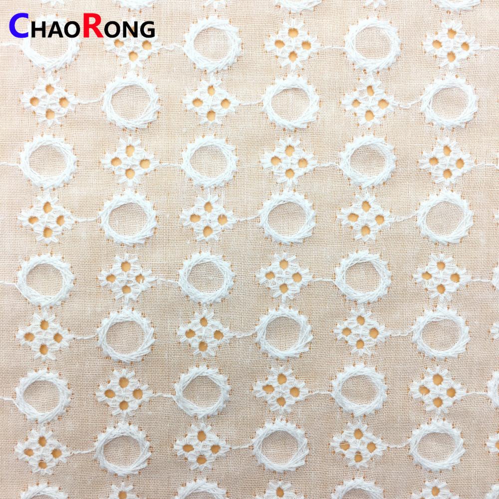 CRF0461 rotonda abbigliamento bambino molle del voile ricamato tessuto di cotone