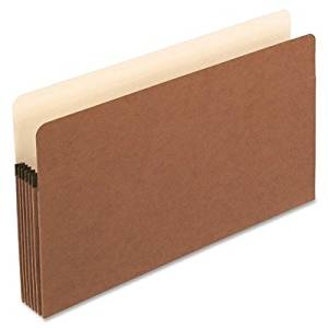 Pendaflex Expanding File Pocket - Legal - 8.50quot; Width x 14quot; Length Sheet Size - 5.25quot; Expansion - Manila, Red Fiber