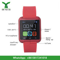 2015 factory price wholesale cheap bluetooth u8 smart watch with 32MB memory watch