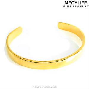 MECYLIFE Jewelry Forever Love Stainless Steel Bracelet Jewelry 22k Gold Bangles