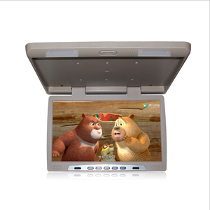 Widescreen 17 inch car roof mounted monitor low power consumption new concept appearance LED car lcd monitor