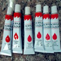 watercolor / oil paint / acrylic paint / palette / stretched canvas