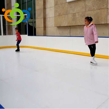 Customized uhmwpe/hdpe synthetic ice skating rinks floor board ice skates indoor and outdoor