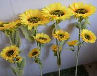 Factory home decorative high quality artificial large sunflower
