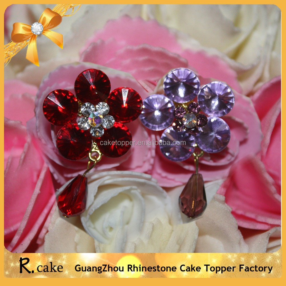 Charming flower shape Rhinestone Brooches,crystal brooch flower bouquet decorating accessory