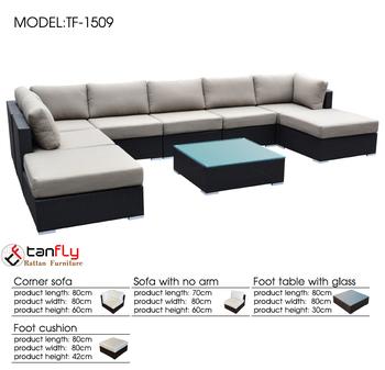 High End Factory Price Rattan Sofa Furniture In Gujrat Stan