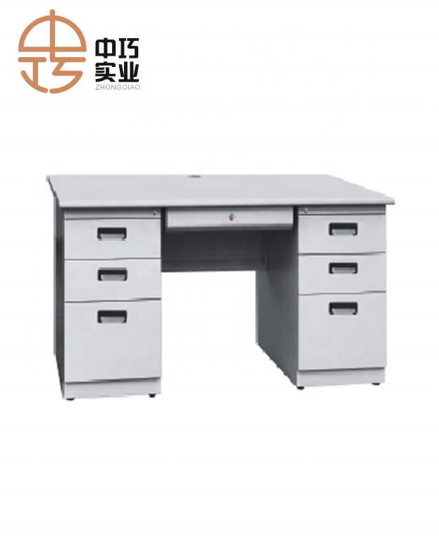Factory Supply Office Furniture Executive Metal Desk With 6 Drawer Double Side
