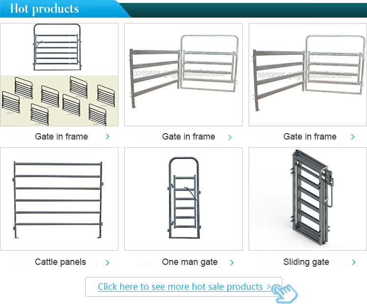 Factory price galvanized livestock farm metal steel fence panels