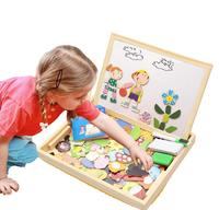 Educational Wooden Toys for Girls Boys Kids Children Toddlers Magnetic Drawing Board Puzzles Games Learning